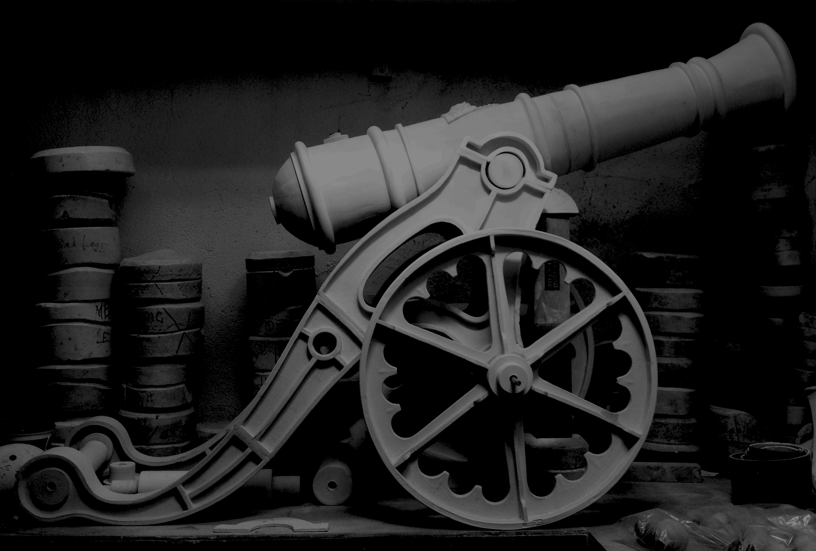 currency-cannon-b+w